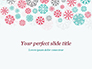 Colorful Snowflakes Background slide 1