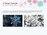 Colorful Snowflakes Background slide 11