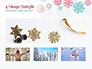 Colorful Snowflakes Background slide 13