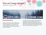 Colorful Snowflakes Background slide 14