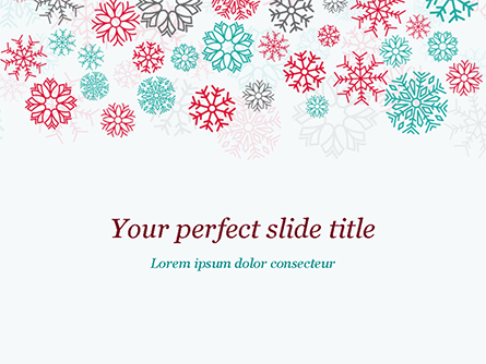 Colorful Snowflakes Background Presentation Template, Master Slide