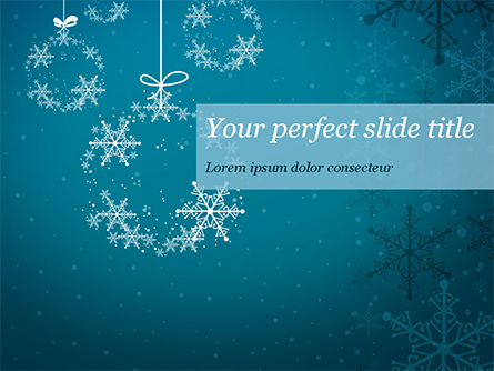 Snowflakes Crystal Balls Presentation Template, Master Slide
