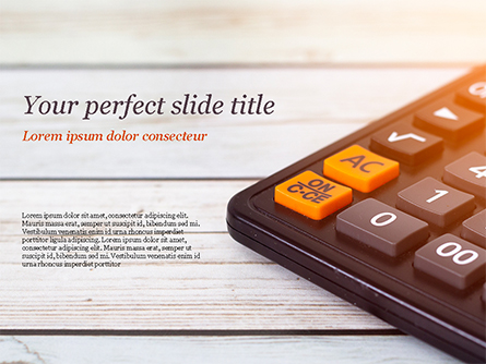 Calculator Presentation Template, Master Slide