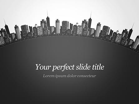 Cityscape Silhouette Presentation Template, Master Slide