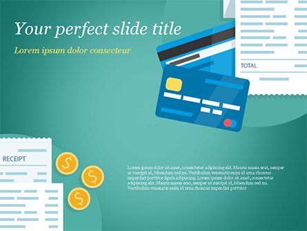 Payment Receipt Presentation Template, Master Slide