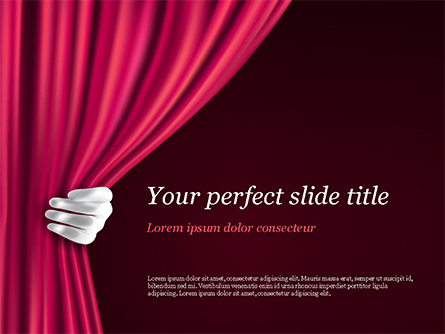 Theater Curtain Presentation Template, Master Slide