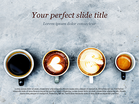 Aerial View of Various Coffee Presentation Template, Master Slide