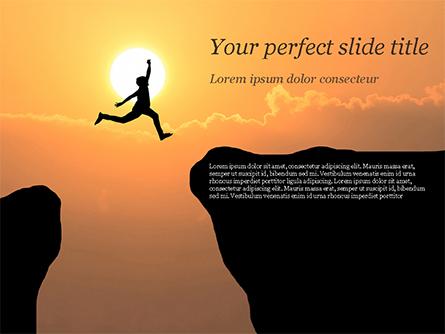 Jump Over Cliff Presentation Template, Master Slide