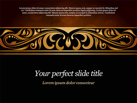 Luxury Vintage Background Presentation Template, Master Slide