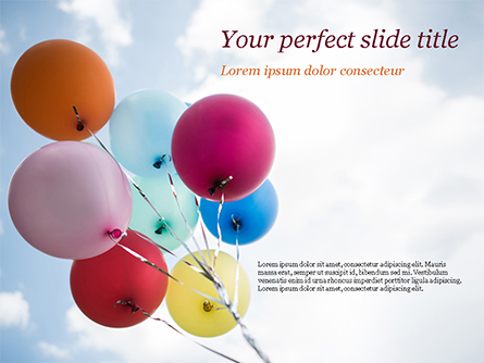 Bunch of Balloons Presentation Template, Master Slide