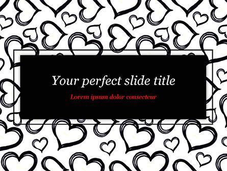 Black Hearts Presentation Template, Master Slide