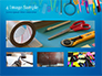 School Supplies on Blue Background slide 13