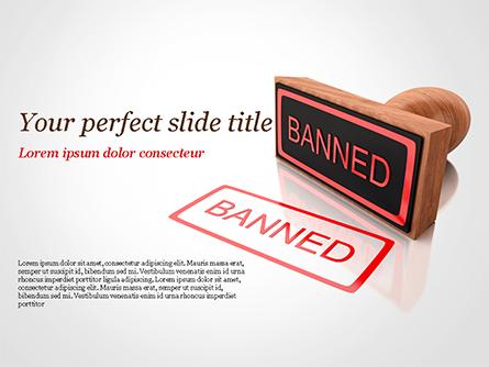 Banned Stamp Presentation Template, Master Slide