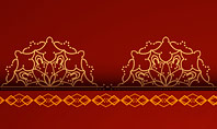 Burgundy Background with Oriental Mandala Pattern Presentation Template