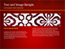 Burgundy Background with Oriental Mandala Pattern slide 14