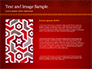 Burgundy Background with Oriental Mandala Pattern slide 15