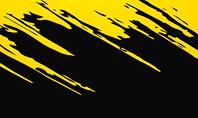 Yellow Brushstroke on Black Background Presentation Template