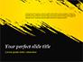Yellow Brushstroke on Black Background slide 1