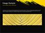 Yellow Brushstroke on Black Background slide 10