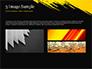 Yellow Brushstroke on Black Background slide 12