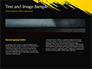 Yellow Brushstroke on Black Background slide 14