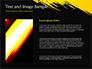 Yellow Brushstroke on Black Background slide 15
