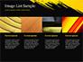 Yellow Brushstroke on Black Background slide 16