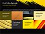 Yellow Brushstroke on Black Background slide 17