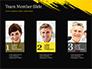 Yellow Brushstroke on Black Background slide 19