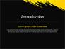 Yellow Brushstroke on Black Background slide 3