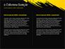 Yellow Brushstroke on Black Background slide 5