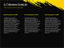 Yellow Brushstroke on Black Background slide 6