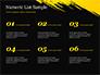 Yellow Brushstroke on Black Background slide 8