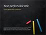 Three Colorful Chalk Sticks slide 1