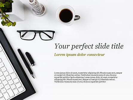 Modern Workplace Presentation Template, Master Slide