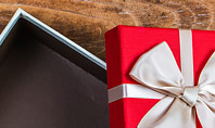 Open Red Gift Box Presentation Template