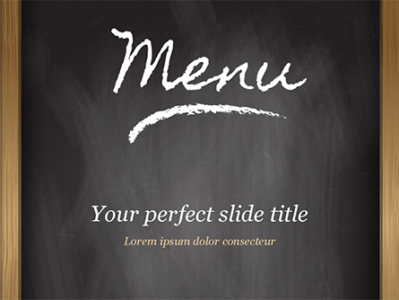 Menu Blackboard Presentation Template, Master Slide