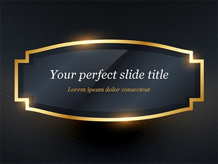 Golden Frame Presentation Template, Master Slide