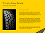 Tire Tracks on Yellow Background slide 15