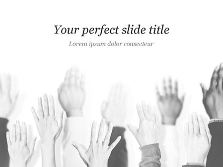 Raised Hands Presentation Template, Master Slide