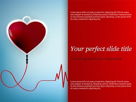 Blood Donation Concept Presentation Template, Master Slide