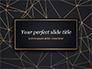 Black Background with Golden Triangular Grid and Frame slide 1