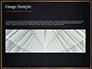 Black Background with Golden Triangular Grid and Frame slide 10