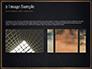 Black Background with Golden Triangular Grid and Frame slide 11