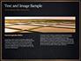 Black Background with Golden Triangular Grid and Frame slide 14