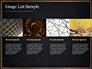 Black Background with Golden Triangular Grid and Frame slide 16
