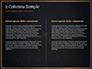 Black Background with Golden Triangular Grid and Frame slide 5