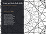 Black Background with Golden Triangular Grid and Frame slide 9