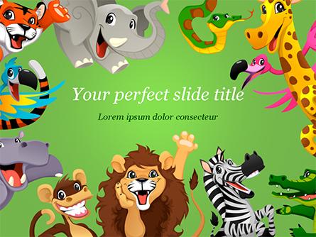Funny Animals Presentation Template, Master Slide