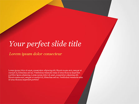 Geometric Black Red And Yellow Presentation Template For